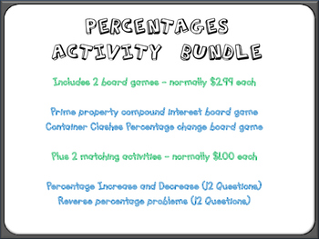 Percentages Activity Bundle