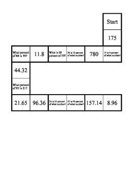 Percentages Domino Puzzle