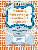 Percentages Fractions Decimals for Middle School