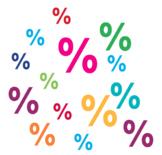 Percentages Worksheets (10 worksheets)