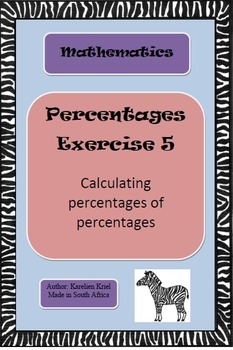 Percentages: exercise (5) (PDF)