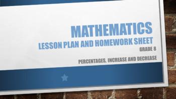 Grade 8 Percentages, increase and decrease