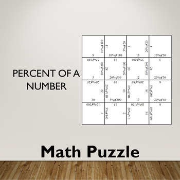 Percent of a Number Math Puzzle (5%, 10% and 20%)