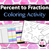 Percentages to Fractions: Coloring Page