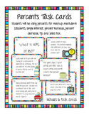 Percents Tasks Cards (Markups and Discounts)