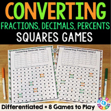 Converting Fractions, Decimals, and Percents Activities (6.RP.3)