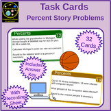 Percents Story Problem Task Cards
