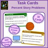 Percents Story Problem Task Cards