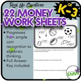 Money Workbook - 22 Deep Thinking and Differentiated Worksheets or Think Sheets!