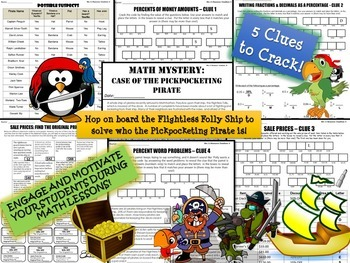 Percents Review Activity for Money, Fractions, Decimals, Word Problems