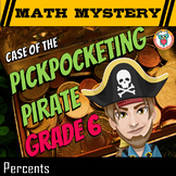 Percents Review Activity for Money, Fractions, Decimals, Word Problems - Pirate