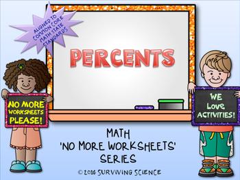 Percents Activity (A No More Worksheets Series Math Activity)