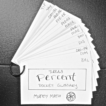 Percents: Anchor Chart and Pocket Glossary Guide