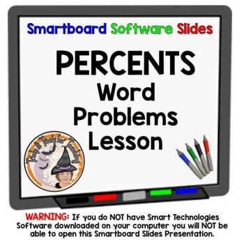 Percents Applications Smartboard Lesson Practicing Percent