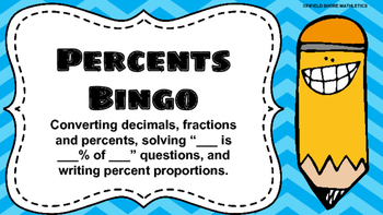 Percents Bingo 7.RP.3