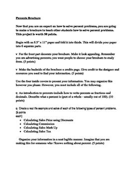 Percents Brochure Instructions