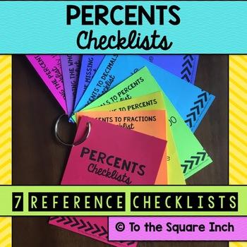 Percents Checklists