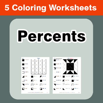 Percents - Coloring Worksheets