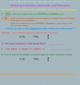 Percents Comparing and Ordering
