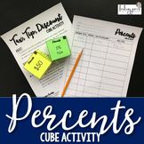 Percents Cube Activity