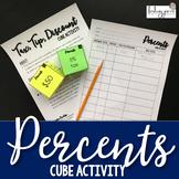 Percents Cube Activity