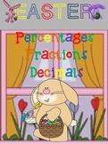 Percents, Decimals, Fractions Easter Bundle