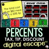 Percents Digital Math Escape Room