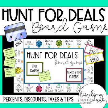 Percents - Discounts, Taxes, Tips Board Game