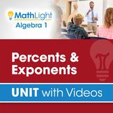 Percents & Exponents   Algebra 1 Unit with Videos   Good f