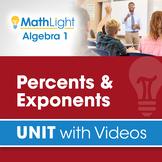Percents & Exponents | Algebra 1 Unit with Videos | Good f