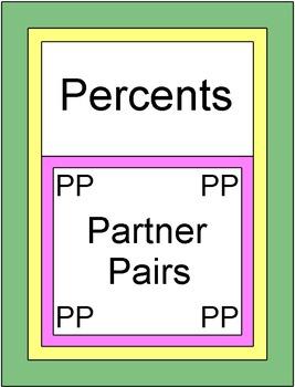Percents - Finding Percents (Partner Pairs)