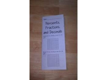 Percents, Fractions, and Decimals Print n' Fold (Foldable)