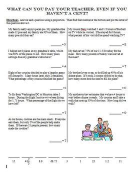 Percents Riddle Sheet