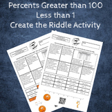 Percents Greater than 100 and Less than 1 Create the Riddle