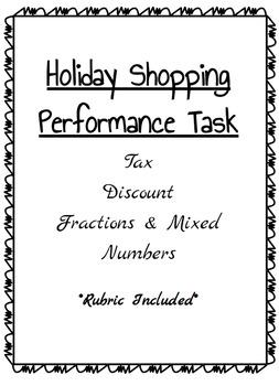 Percents - Holiday Shopping Task