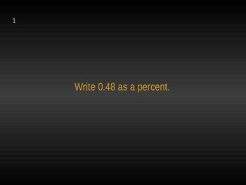 Percents Jeopardy