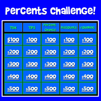 Percents Challenge Game!