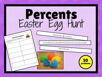 Percents MATH EASTER Egg Hunt!