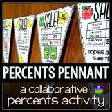 Percent Discounts Math Pennant Activity