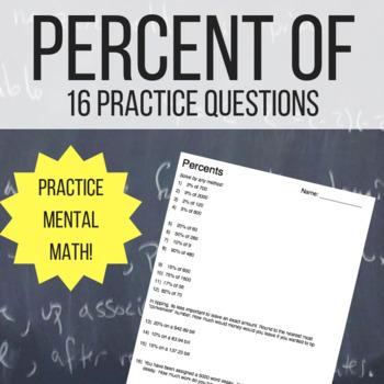 Percents Practice