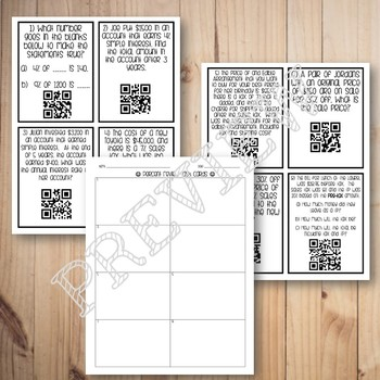 Percents Review Task Cards - QR Codes
