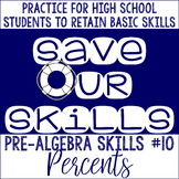 Percents SOS (Save Our Skills)