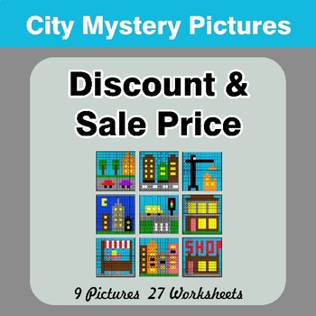 Percents - Sale Price, Discount, Savings - Math Mystery Pictures - City