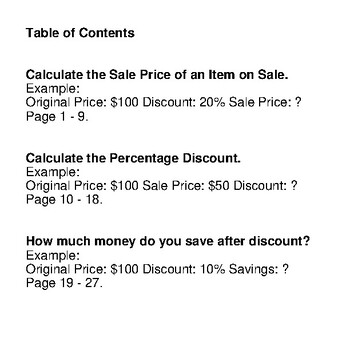 Percents - Sale Price, Discount, Savings - Math Mystery Pictures - Monsters