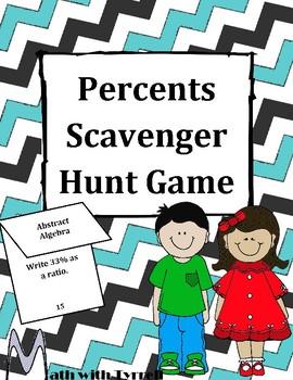 Percents Scavenger Hunt Game