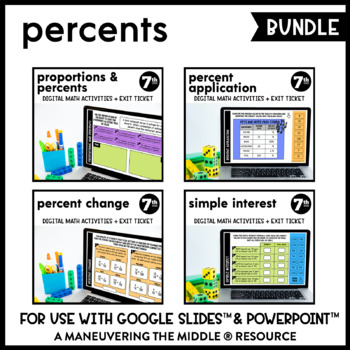 Percents - Supplemental Digital Math Activities for Google Slides™
