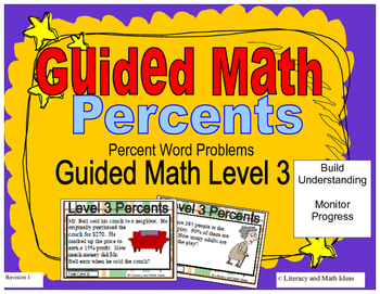 Percents Task Cards (Guided Math Level 3)