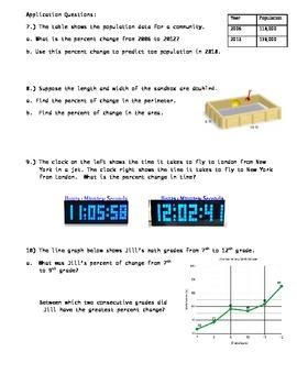 Percents: Teaching the Meaning ~ Middle School Math