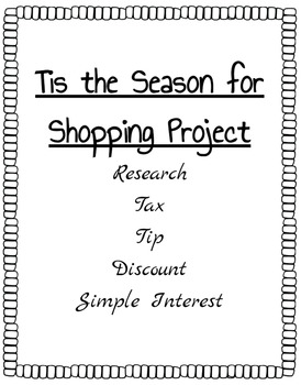 Percents - Tis the Season for Shopping Project