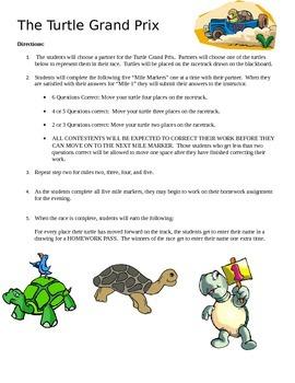 Percents Turtle Grand Prix